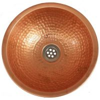 Copper Dome Multi Patina Bright Verde Bathroom Sink