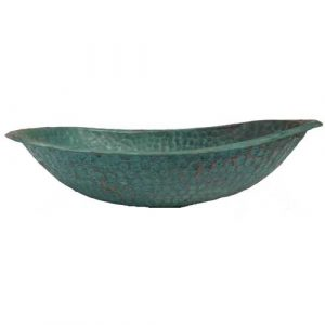 Copper Green Layer Tarnished Oval Bathroom Lavatory Sink Bowl