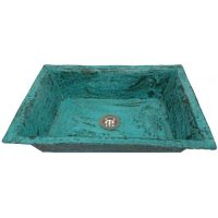 Oxidized Green Aged Verdigris Copper Kitchen Sink