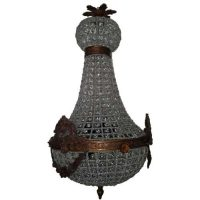 Bird Cage Basket Crystal Lamp Ceiling Chandelier