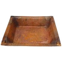 Spa Foot Wash Tub Massage Treatment Rectangle Copper Bowl