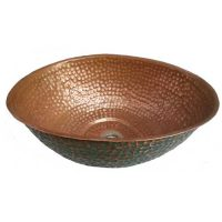 Egg Design Vessel Verdi Rustic copper Bathtoom Sink Lavatory Bowl