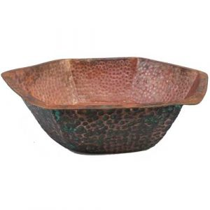 Hexagon Design Therapy foot Soaking Spa Copper Bowl
