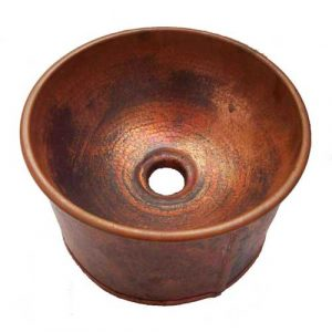 Copper Vessel Bath Apron Skirted Antique Finish Sink