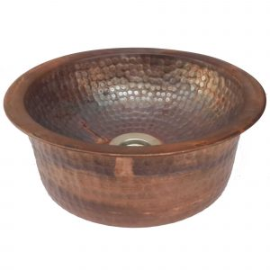 Copper Vessel Bathroom Sink Apron Skirt Fire Burnt Wash Basin