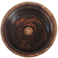 Rustic Oil Rubbed Copper Undermount Bathroom Sink