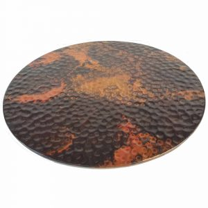 Rainbow Hammered Round Copper Table Top
