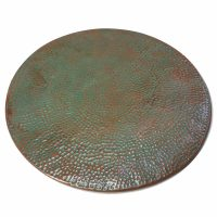Rustic Vintage Hammered Round Copper Table Top