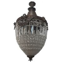 Handmade French Empire Basket Crystal Lantern