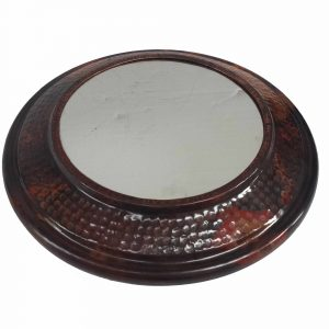 HAND Hammered Shiny Wall Textured Copper Mirror