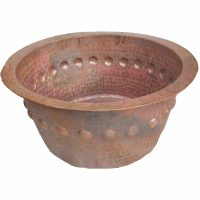 Round Hammered Copper Garden Kids Bathtub Bath Tub Planter