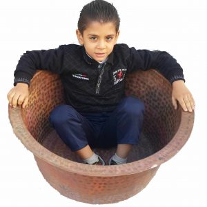 Handmade Pure Copper Garden Kids Bathtub Bath Tub Planter