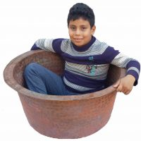 Egyptian Round Pure Copper Garden Kids Bathtub Bath Tub Planter