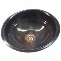 Satin Oil Rubbed Bronze Round Copper Rolled Lip Tiered Sink