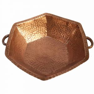 Polished Foot Home Massage DIY Hexagon Copper Pedicure Basin