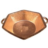 Eggs Beating Hexagon Copper Kitchen Fruits Salad Bowl