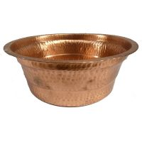 Small Polished Foot Soaking Wash Therapy Copper Spa Pedicure