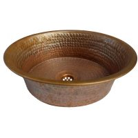 Rustic Industrial antique Brown Pan Vessel Copper Sink