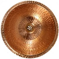 Luxury Circular Shiny Traditional Polished Undermount Copper Sink