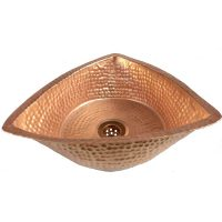 Luxury Triangle Design Traditional Polished Vessel Naked Copper Sink