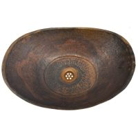 Rustic Uncoated Industrial antique Bathtub Vessel Copper Sink