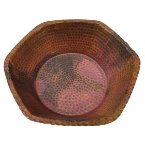 Portable Antique Foot Hexagonal Copper Spa Pedicure Bowl