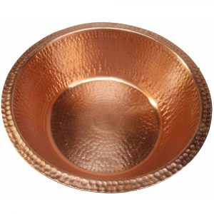 Portable Polished Foot Rub Massage Bare Copper Spa Pedicure Bowl