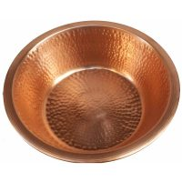 Polished copper pedicure bowl – hand hammered