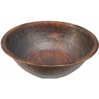 Rustic Pedicure Bowl Hammered Copper Foot Basin