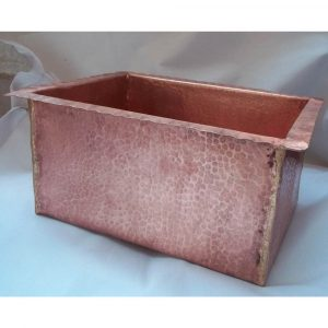 Polished Hammered Copper Kitchen Sink