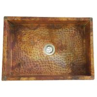 Anti Microbial Rustic Hammered Copper Kitchen Sink