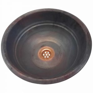 Top Mount Drop-in Wholesale Rustic Satin Small Copper Sink