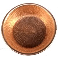 Round Copper Manicure Bowl Hand Hammered