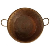 Copper Kettle Cauldron Decorative Bowl