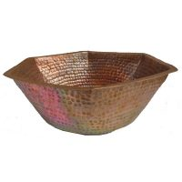 Copper Hexagon Centerpiece Decorative Bowl