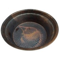 Copper Round Centerpiece Decorative Bowl