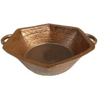 Copper Hexagonal Kettle Centerpiece Decorative Bowl