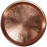 Polished Hammered Copper Tray