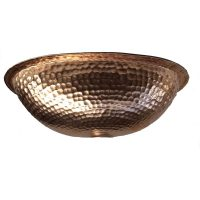 Copper Hand Crafted Oval Fruit Bowl