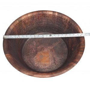 Pair 20″ Rustic Portable Pedicure Bowls Copper Large Size Feet Massage Basins