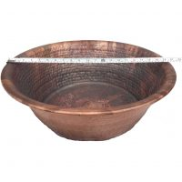 20″ Portable Vintage Pedicure Bowl Copper Large Foot Basin
