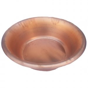 20″ Satin Portable Pedicure Bowl Raw Copper Large Size Feet Therapy Basin