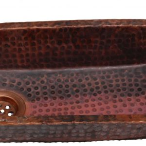 Trough Pure Copper Bathroom Sink Bar Kitchen Prep Wash Basin